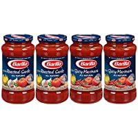 Barilla Spicy Marinara and Roasted Garlic Sauce Variety Pack, 24 Ounce (Pack of 4)