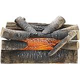"Pleasant Hearth 20"" Electric Crackling Natural Wood Log"