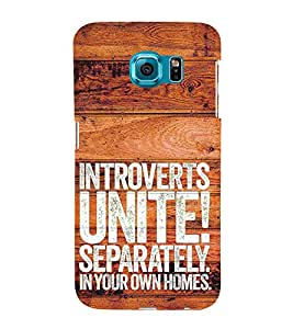 Introverts Unite Separately 3D Hard Polycarbonate Designer Back Case Cover for Samsung Galaxy S6 Edge :: Samsung Galaxy Edge G925