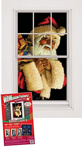 Wowindow Posters Santa Claus Jolly Christmas Window Decoration, Includes One 3 By 5-Inch Poster front-526347