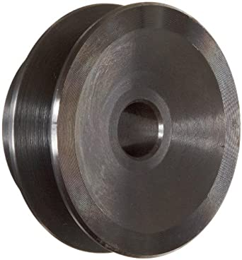 "Martin AK23 P/B Plain Bore FHP Sheave, 3L/4L Belt Section, 1 Groove, 1/2"" Bore, Class 30 Gray Cast Iron, 2.3"" OD, 10787 max rpm, 1.76"" Pitch Diameter/2.1 Datum"