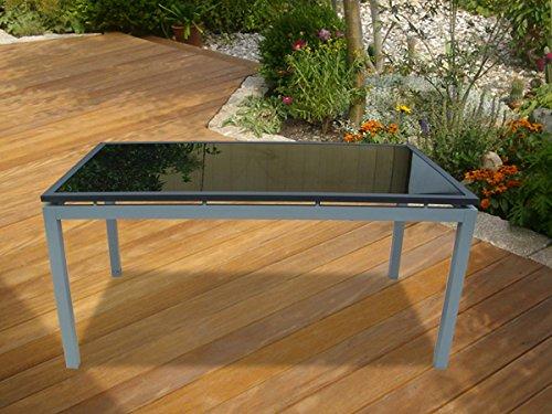 Gartentisch Gartenmöbel 26434 schwarz Hochglanz Glas jetzt bestellen
