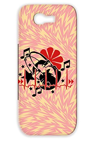 Beat Music 2C Red For Sumsang Galaxy Note 2 Music Stars Los Auriculares La Musica Keys Cardiac Rhythm Miscellaneous Headphones Latido Del Corazn Ritmo Las Llaves El Cardaco Heartbeat Estrellas Protective Hard Case