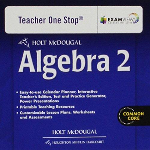 Holt McDougal Algebra 2: Teacher's One Stop Planner DVD