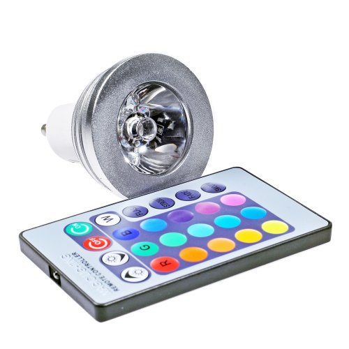 Miniwatts Gu10 3W Rgb Colour Changing Led Spotlight Bulb
