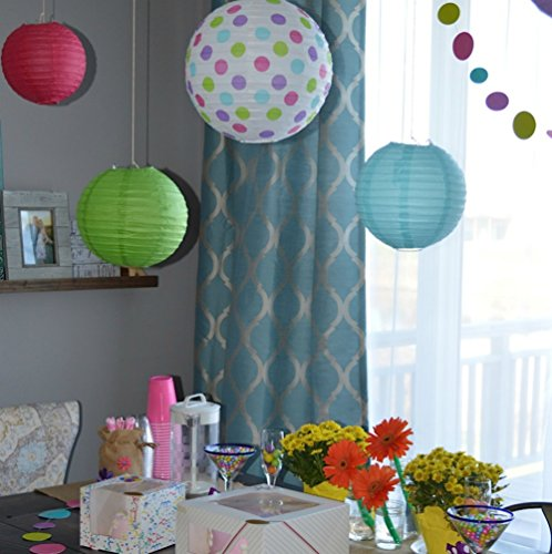 bobee paper lanterns for birthday party baby bridal shower decorations nursery bedroom girls. Black Bedroom Furniture Sets. Home Design Ideas