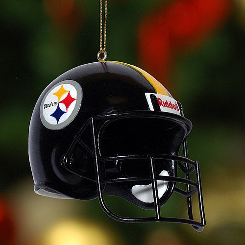 Pittsburgh Steelers Helmet Ornament 3 Pack