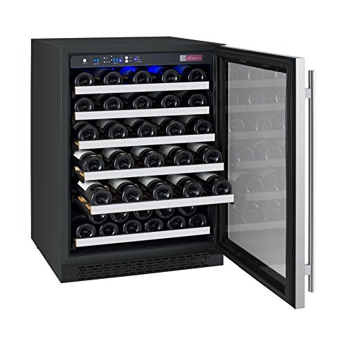 Allavino VSWR56-1SSRN – 56 Bottle Single Zone Wine Cellar Refrigerator with Right Hinge Built-In
