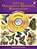 Full-Color Decorative Butterfly Illustrations CD-ROM and Book (Dover Full-Color Electronic Design)