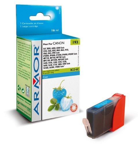 Für Canon Pixma IP 3000 (Cyan) Patrone - Armor Druckerpatrone für IP3000, kompatibel, 16ml