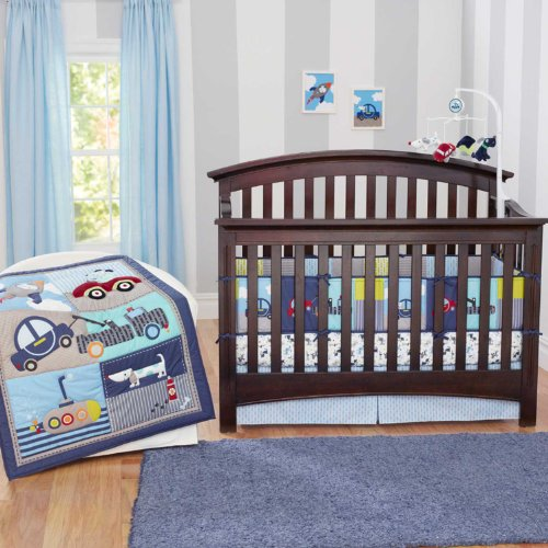 Puppy On The Go 4 Piece Baby Crib Bedding Set By Just Born
