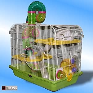Amazon.com : Sahara Oasis Hamster Cage Large Open Top For Hamsters : Birdcages : Pet Supplies