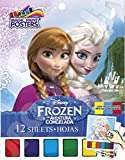 Disney Frozen Magic Paint Posters - 12 Paint Sheets! Fun, Safe & Easy to Use! Non Toxic