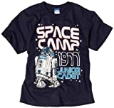 Star Wars Big Boys' Space Camp Graphic T-Shirt, Navy, Small