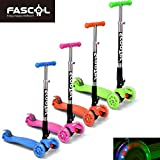 FASCOL� Twist & Roll Patinete plegable para ni�os con 3 ruedas,mini micro patinetes freestyle scooter in Verde