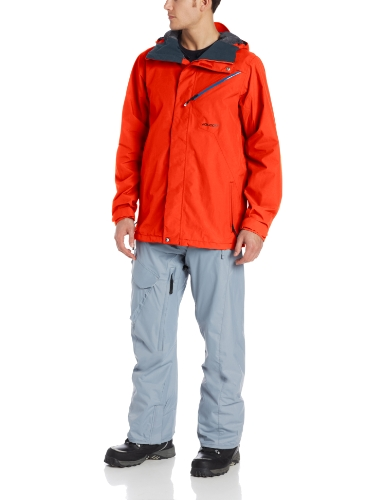 Volcom Men's L Gore-Tex Jacket, Orange, X-Large
