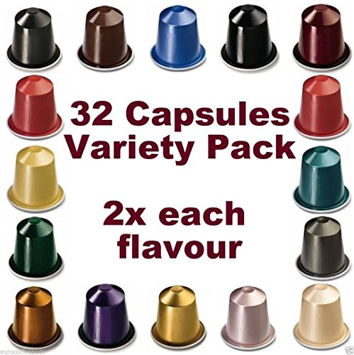 get 32 nespresso capsules starter pack 2x full coffee. Black Bedroom Furniture Sets. Home Design Ideas