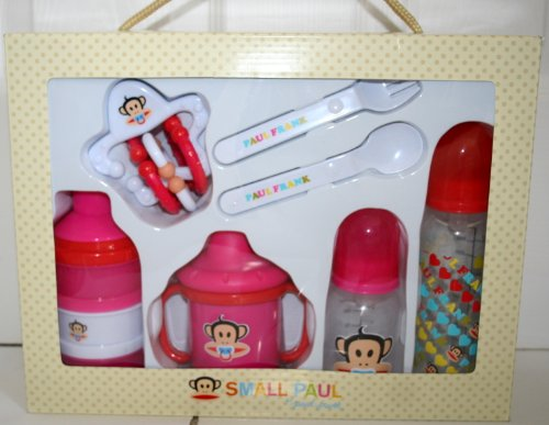 Small Paul by Paul Frank 7-Piece Feeding Gift Set - Pink