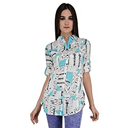 Terquois Printed cotton shirt(12674_Blue_L)