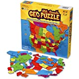 GeoPuzzle U.S.A. and Canada - Educational Geography Jigsaw Puzzle (69 pcs) ~ GeoToys