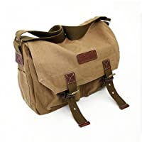 Casual Vintage Canvas Digital Camera Shoulder Bag Messenger Bag for Canon Nikon Sony SLR DSLR by COURSER