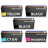 Prestige Cartridge CLP320 Toner Cartridge for Samsung CLX-3185FN/CLX-3185FW/CLX-3185N - Assorted Colour (Pack of 5)