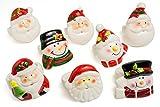 Christmas Decorative Porcelain Napkin Ring 8 pcs set