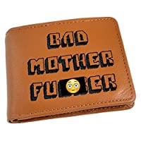 Bad Mother Fu*ker Leather Wallet (Embroidered Light Brown) (Misc.)