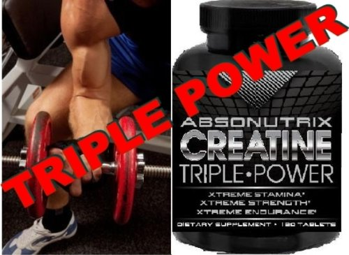 Absonutrix Creatine Triple Power 5000Mg - 120 Tablets Xtreme Stamina - Xtreme Strength - Xtreme Endurance