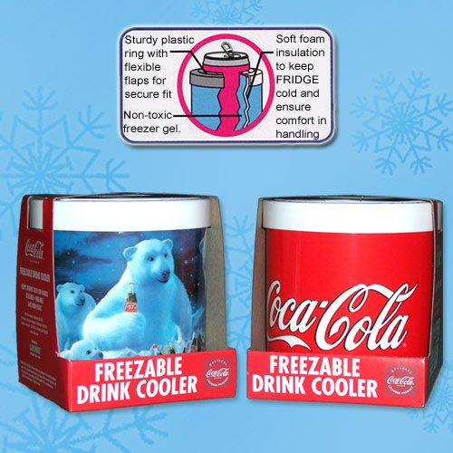 The Fridge Coke And Polar Bear Freezer Koozies (2 Pack, 1 Of Each) front-72336