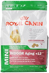 Royal Canin Aging Dry Pet Food for Mini Indoor Dogs Aged 12 Plus, 3-Pound