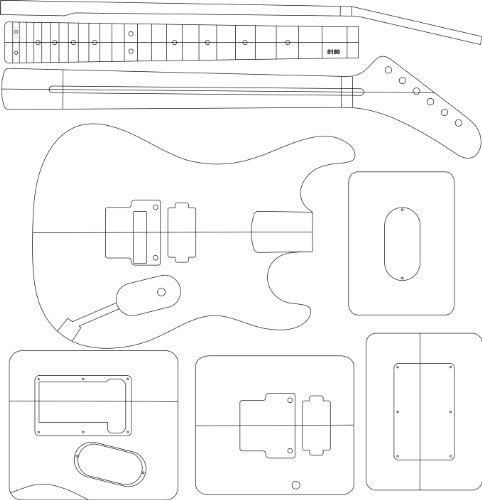 Electric Guitar Routing Template - 5150