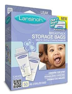 Lansinoh Breast Milk Storage Bags, 50 Count