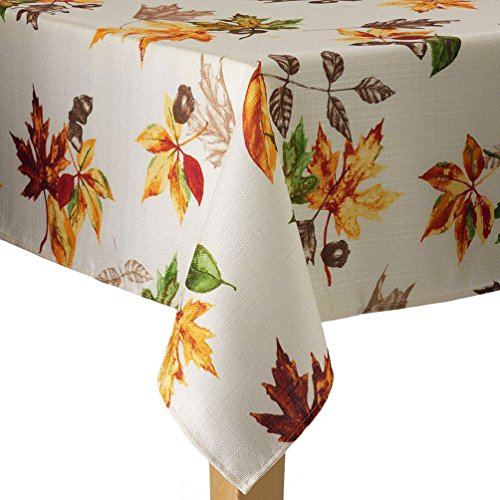 Autumn Leaves Fall Fabric Tablecloth