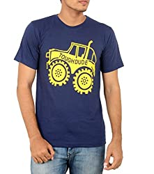 Younsters Choice Men's Cotton T-Shirt (YC-5837_Navy Blue_Large)