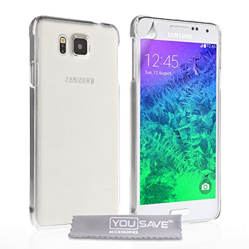 Yousave Accessories Samsung Galaxy Alpha Case Crystal Clear Hard Cover front-201583