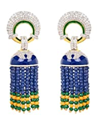 Akshim Multicolour Alloy Earrings For Women - B00NPYBPCA