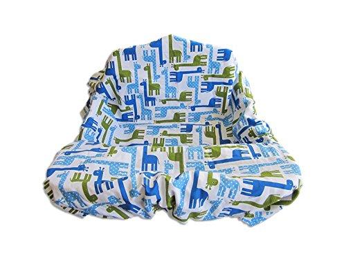 Shopping Cart & High Chair Cover Giraffe (Blue) front-668134