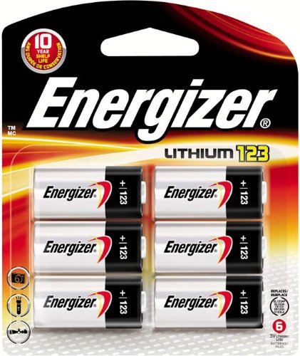 Energizer Photo Battery 123, 6-Count front-942069