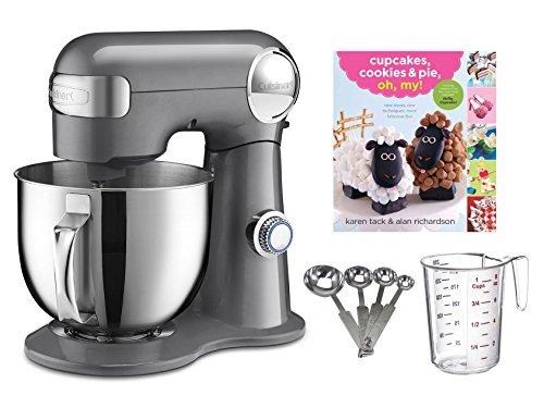 Cuisinart 5.5-quart Mixer + Measuring Spoon Set + Cupcake Book + Measuring Cup (Cuisinart Mixing Bowl Set compare prices)
