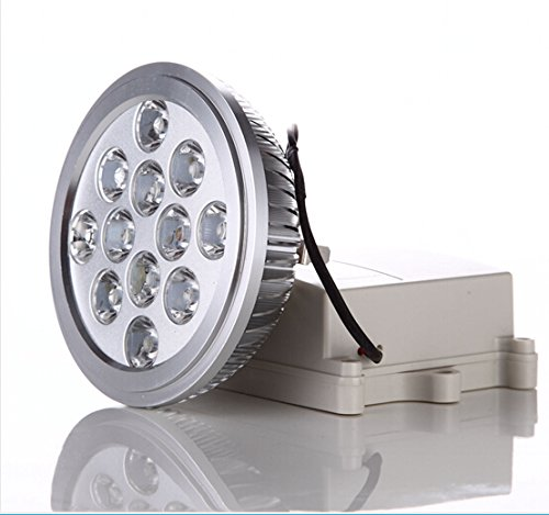 Aiboo 15W Ar111 G53 Led Spot Light,Equivalent To 100W Halogen,Warm White,100-240V,1050Lm ,45° For Commercial Lighting