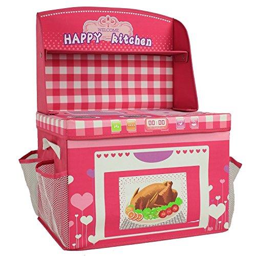 Pink Kitchen Toy Storage Box For Girls