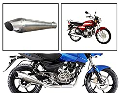 Vheelocityin 84105 Pipe Style B Motorcycle Exhaust for Hero HF-Dawn