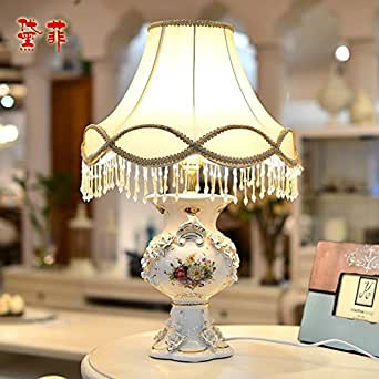 Ddl European Luxury Table Lamp Living Room Lamp Bedroom Ceramic