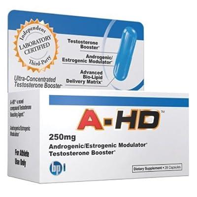 BPI HD Anti-Aromatase Testosterone Booster, 250mg, 28 Capsules