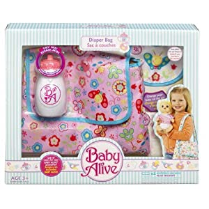 Baby Alive Diaper Bag with Bib and Diaper
