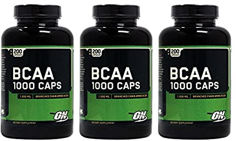 (3er BUNDLE) | BCAA | 200 capsule - Optimum Nutrition