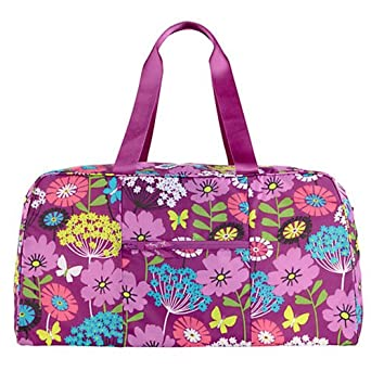 Vera Bradley Collapsible Duffel in Flutterby