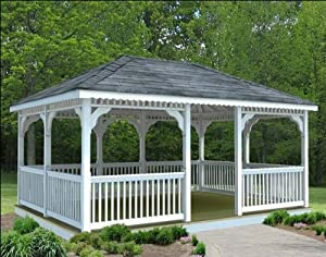 Amazon.com : 10' x 14' Vinyl Rectangular Gazebo : Patio, Lawn & Garden