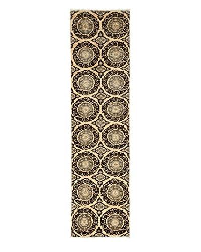 Darya Rugs Fine Modern Oriental Rug, Walnut, 2′ 8″ x 10′ 2″ Runner
